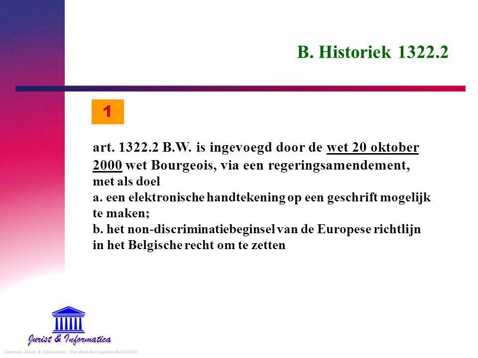 B.Historiek 1322.2 art. 1322.2 B.W.