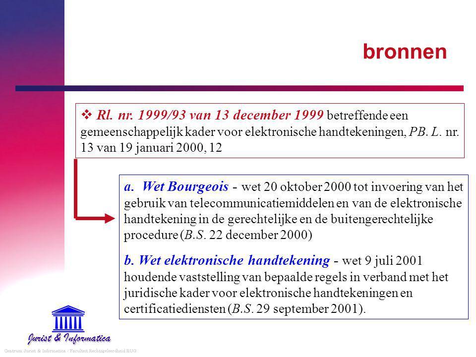 a. Wet Bourgeois - wet 20 oktober 2000 tot invoering van het gebruik van telecommunicatiemiddelen en van de elektronische handtekening in de gerechtel