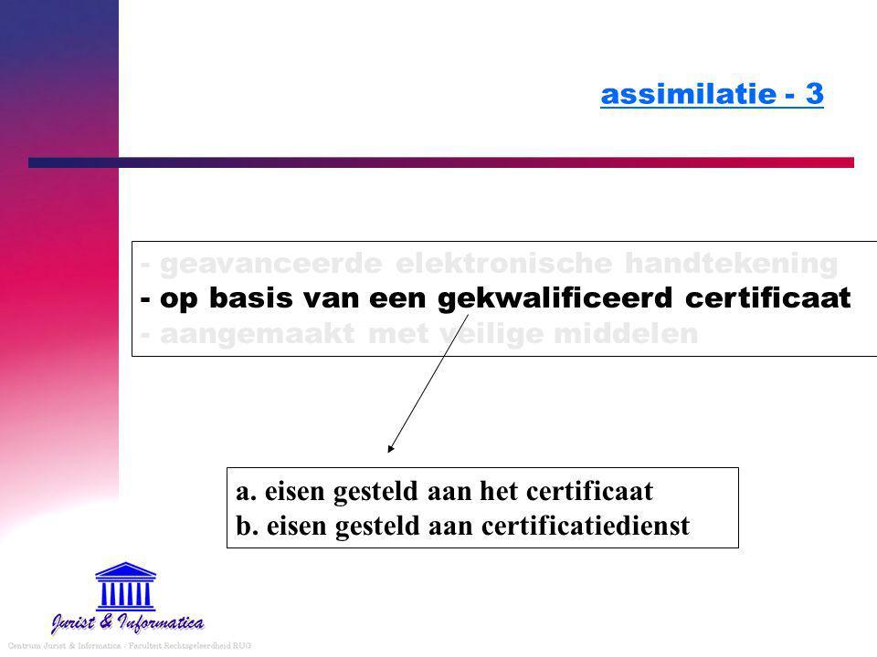 assimilatie - 3 - geavanceerde elektronische handtekening - op basis van een gekwalificeerd certificaat - aangemaakt met veilige middelen a.