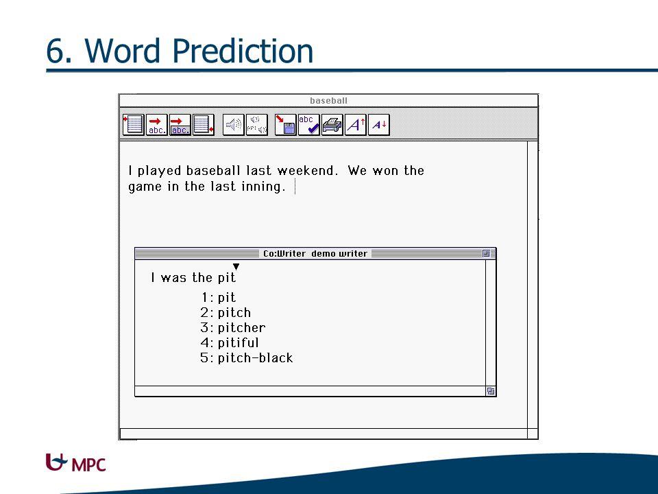 6. Word Prediction