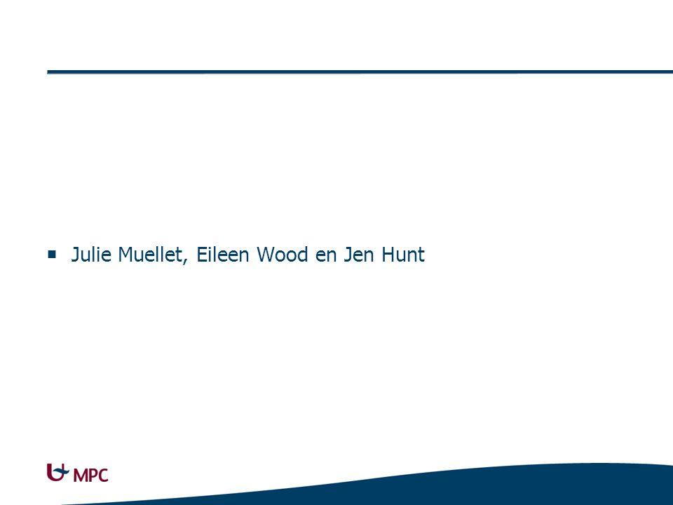  Julie Muellet, Eileen Wood en Jen Hunt