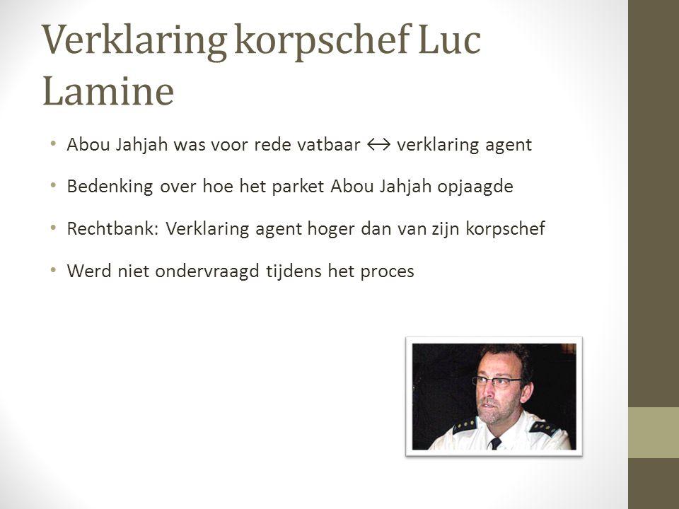 Verklaring korpschef Luc Lamine Abou Jahjah was voor rede vatbaar ↔ verklaring agent Bedenking over hoe het parket Abou Jahjah opjaagde Rechtbank: Ver