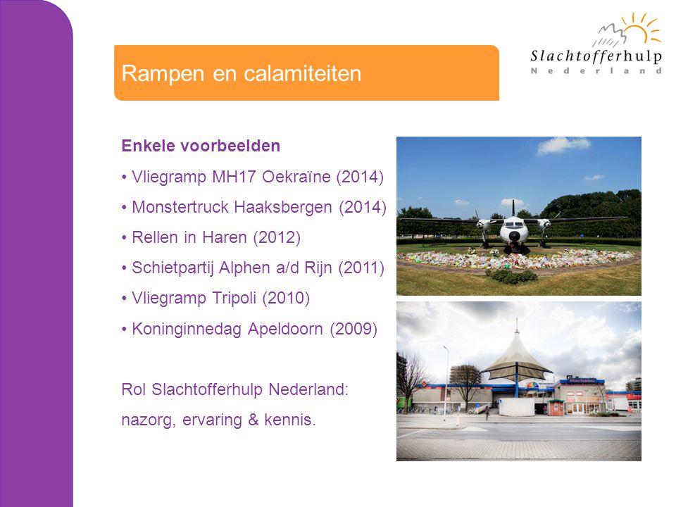 Enkele voorbeelden Vliegramp MH17 Oekraïne (2014) Monstertruck Haaksbergen (2014) Rellen in Haren (2012) Schietpartij Alphen a/d Rijn (2011) Vliegramp