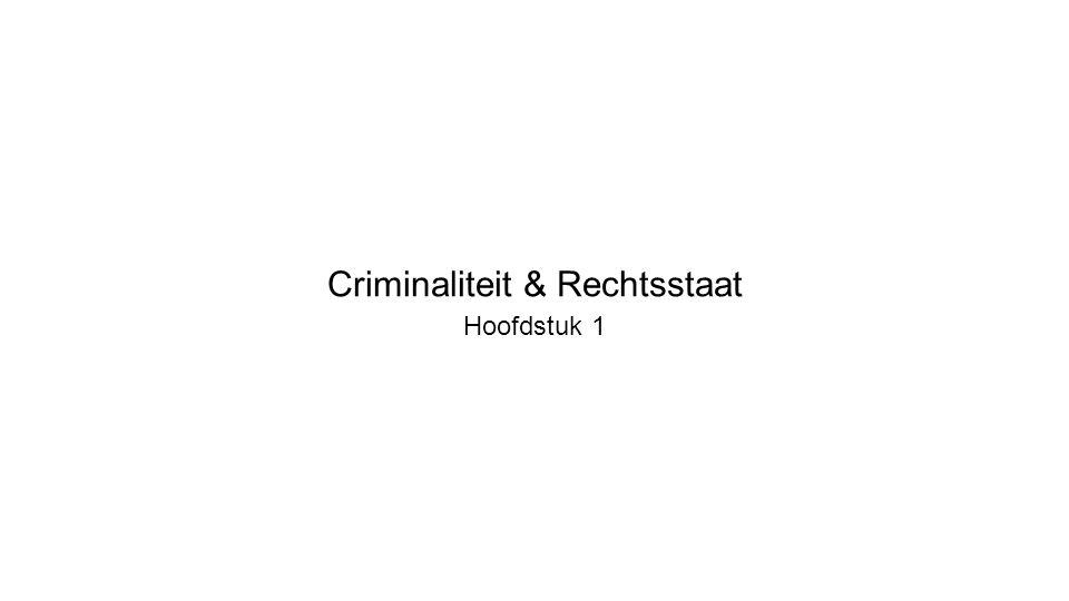 Criminaliteit & Rechtsstaat Hoofdstuk 1