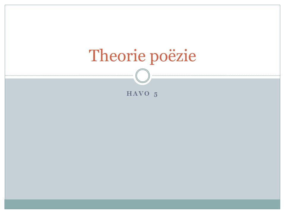 HAVO 5 Theorie poëzie