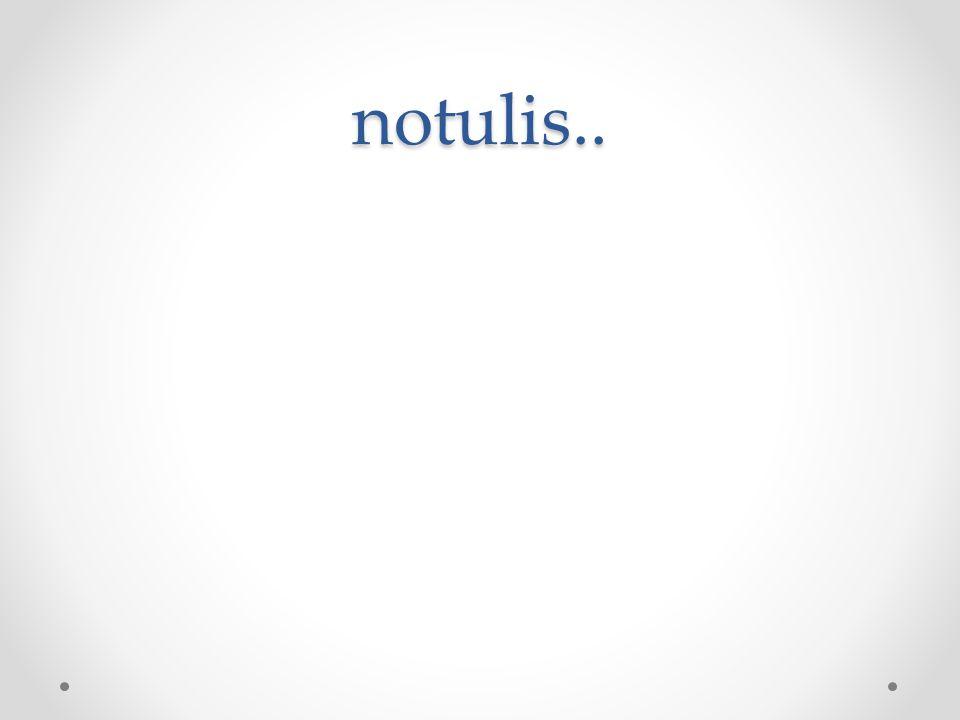 notulis..