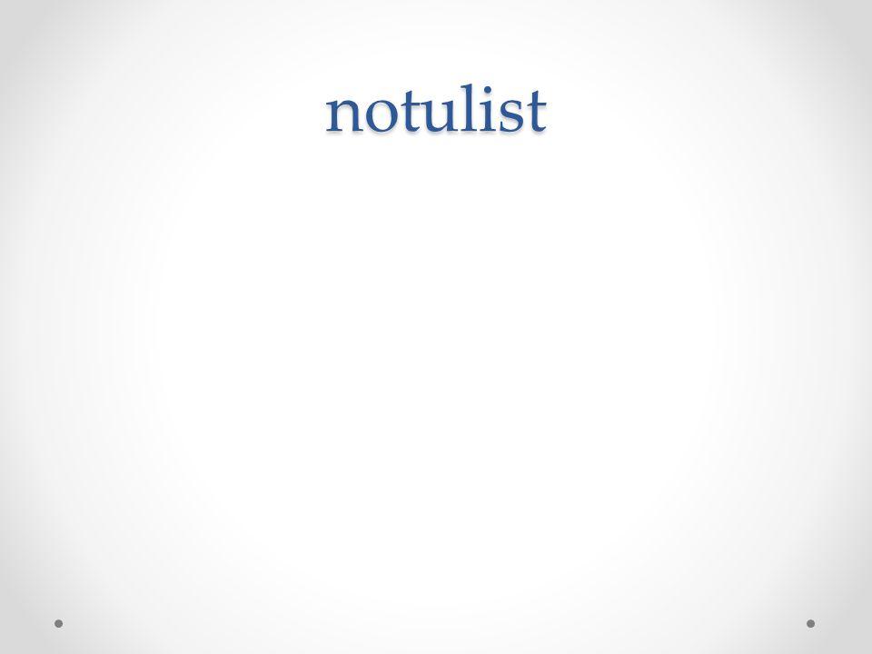 notulist