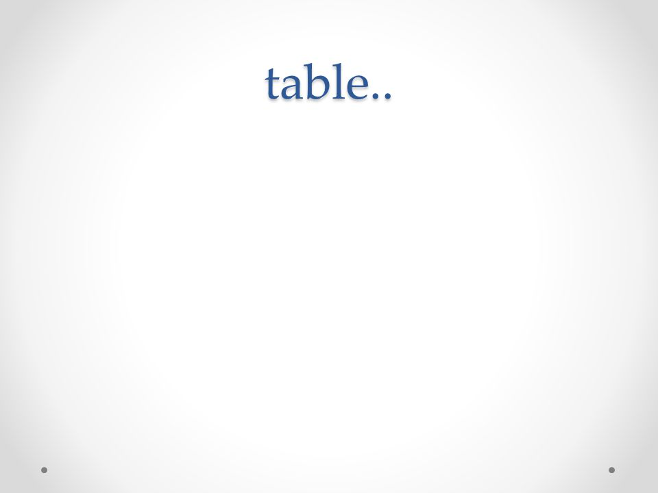 table..