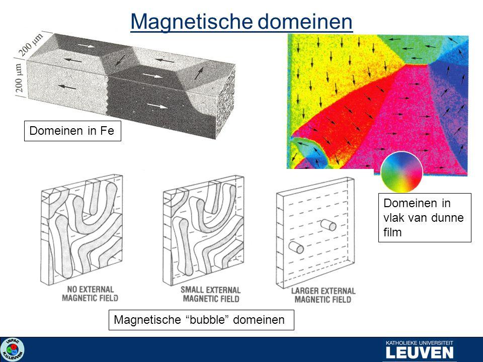 Magnetische domeinen Domeinen in Fe Magnetische bubble domeinen Domeinen in vlak van dunne film