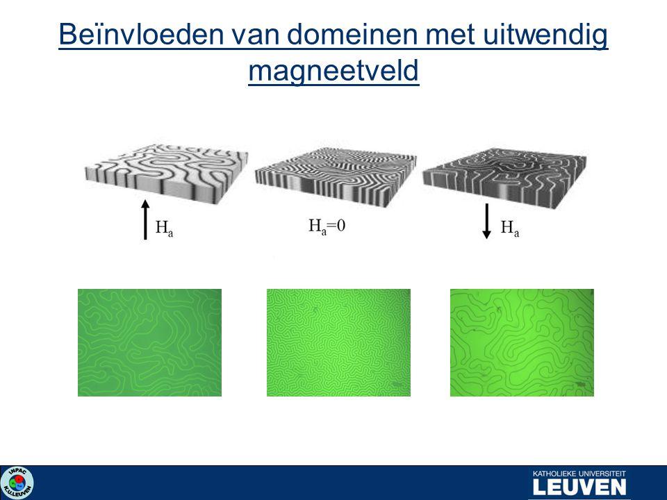 Beïnvloeden van domeinen met uitwendig magneetveld