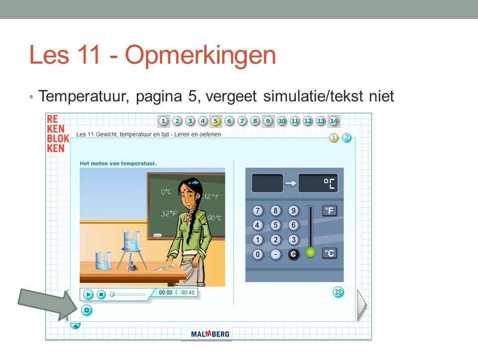 Les 11 - Opmerkingen Temperatuur, pagina 5, vergeet simulatie/tekst niet