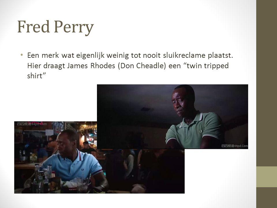 Fred Perry Een merk wat eigenlijk weinig tot nooit sluikreclame plaatst.