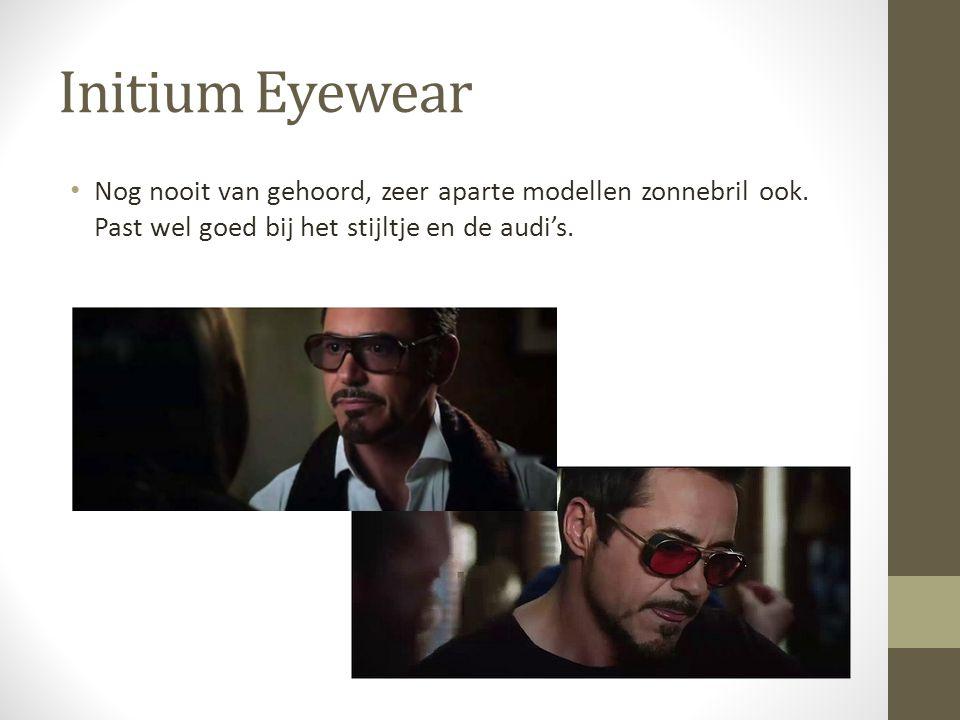 Initium Eyewear Nog nooit van gehoord, zeer aparte modellen zonnebril ook.