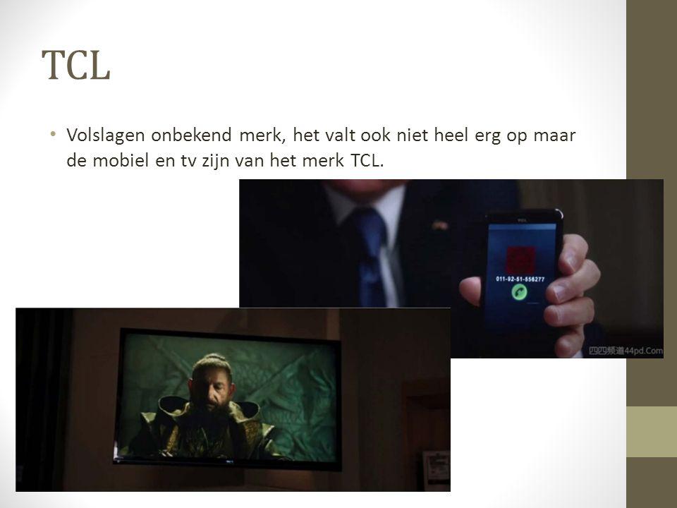 TCL Volslagen onbekend merk, het valt ook niet heel erg op maar de mobiel en tv zijn van het merk TCL.