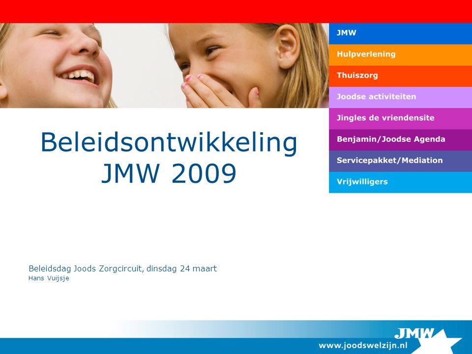 Beleidsontwikkeling JMW 2009 Beleidsdag Joods Zorgcircuit, dinsdag 24 maart Hans Vuijsje