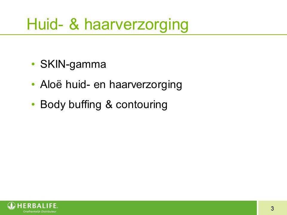 3 Huid- & haarverzorging SKIN-gamma Aloë huid- en haarverzorging Body buffing & contouring
