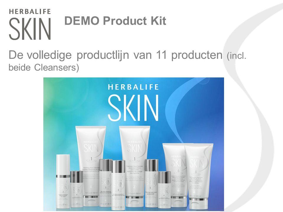 DEMO Product Kit De volledige productlijn van 11 producten (incl. beide Cleansers)