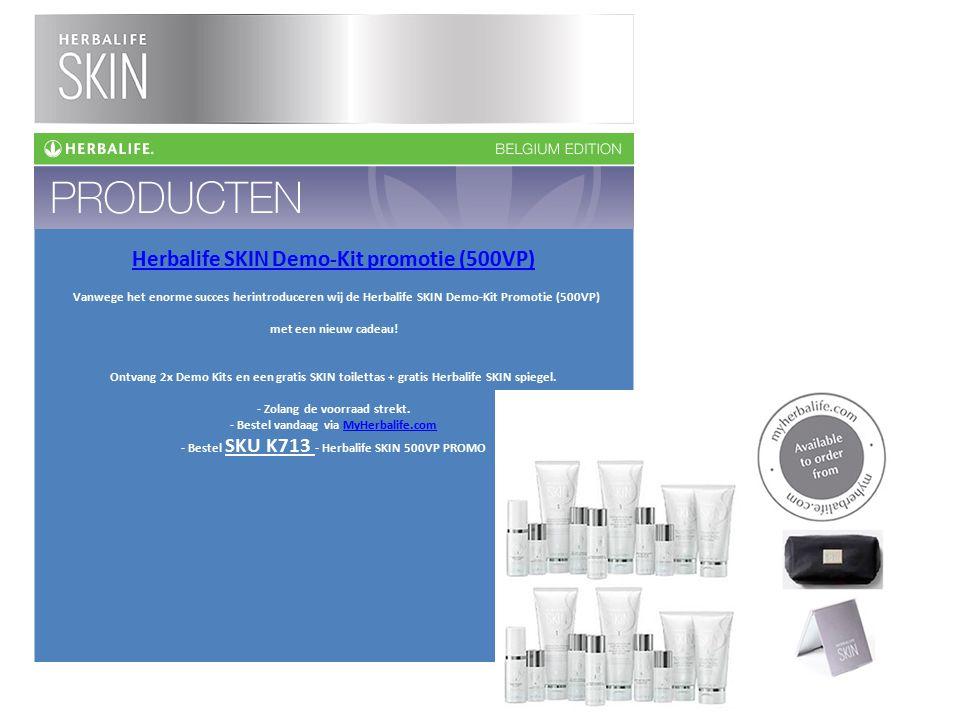 Herbalife SKIN Demo-Kit promotie (500VP) Vanwege het enorme succes herintroduceren wij de Herbalife SKIN Demo-Kit Promotie (500VP) met een nieuw cadea