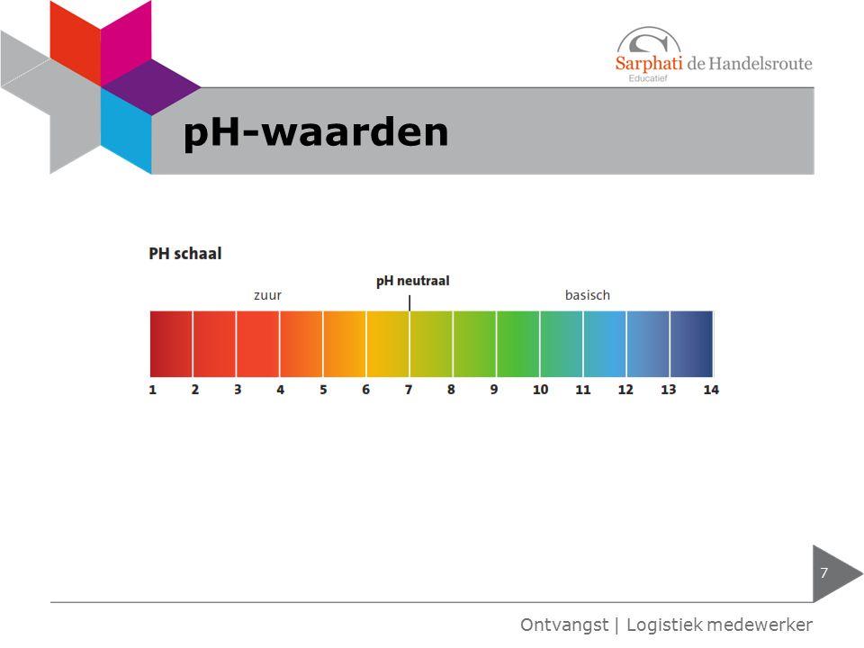 pH-waarden 7 Ontvangst   Logistiek medewerker