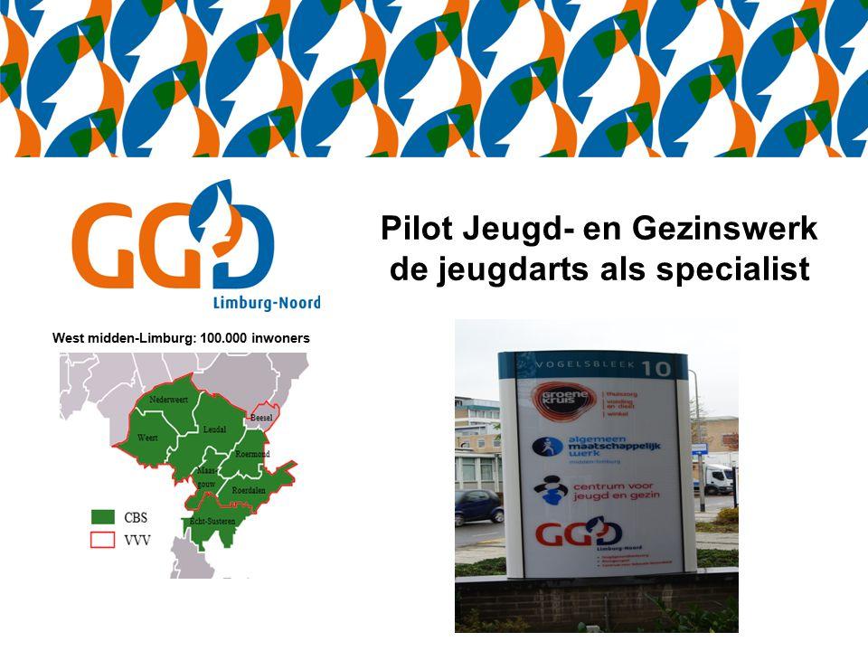 Pilot Jeugd- en Gezinswerk de jeugdarts als specialist West midden-Limburg: 100.000 inwoners