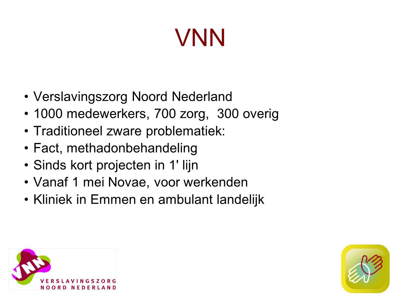 3 VNN, Novae 3-6 % beroepsbevolking alcoholgerelateerde problemen 20% verminderd productief 2-6 x meer frequent kortdurend verzuim Belang helder beleid van organisatie