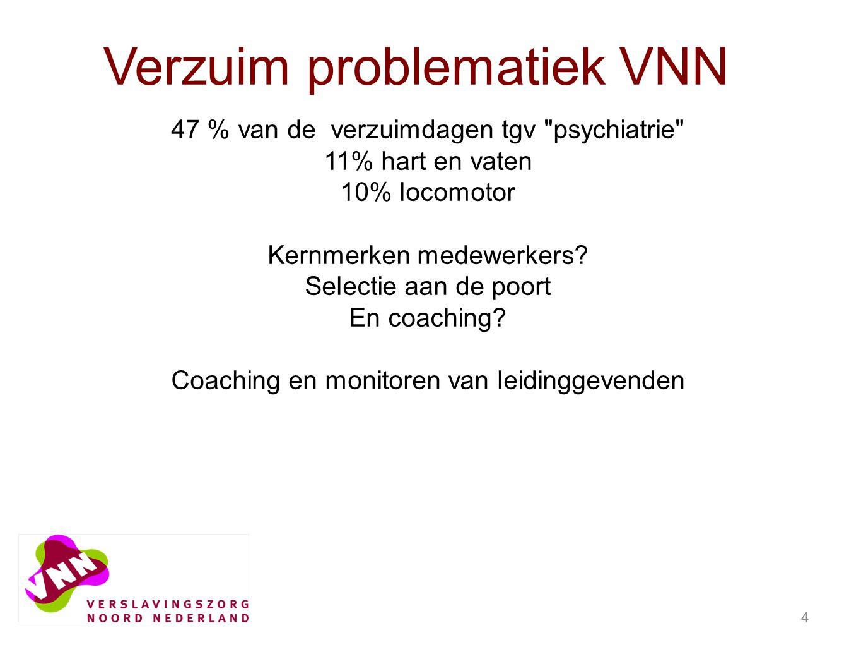 4 47 % van de verzuimdagen tgv psychiatrie 11% hart en vaten 10% locomotor Kernmerken medewerkers.