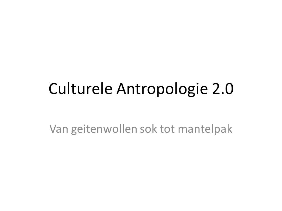 Old school Anthropology