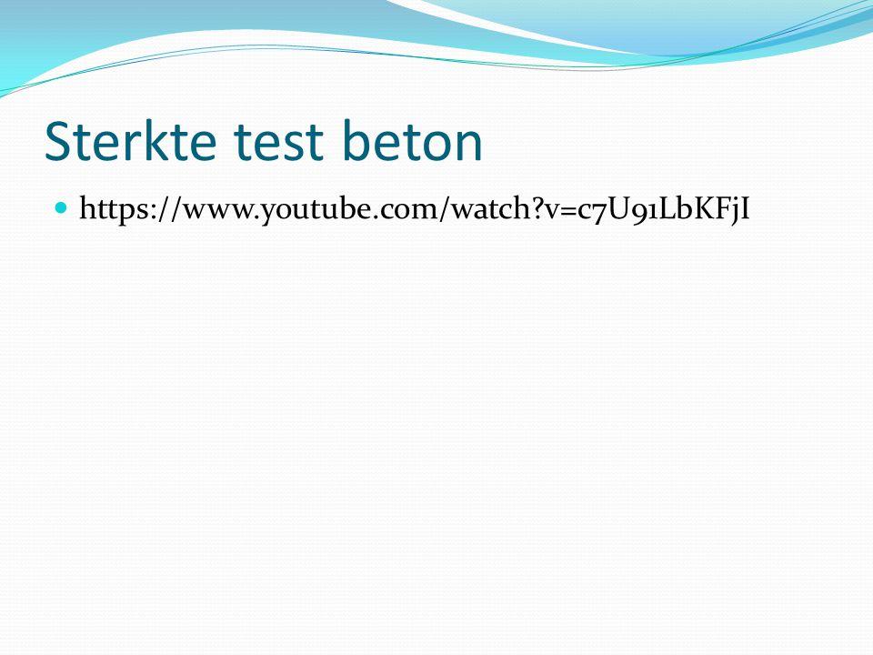 Sterkte test beton https://www.youtube.com/watch?v=c7U91LbKFjI