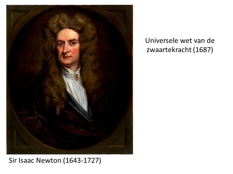 Sir Isaac Newton (1643-1727) Universele wet van de zwaartekracht (1687)
