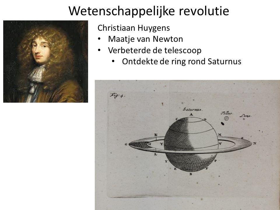 Christiaan Huygens Maatje van Newton Verbeterde de telescoop Ontdekte de ring rond Saturnus Wetenschappelijke revolutie