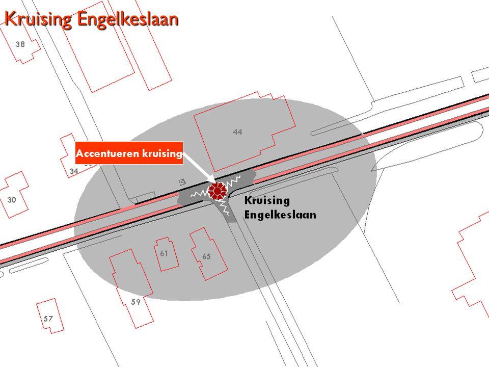 Kruising Engelkeslaan Accentueren kruising
