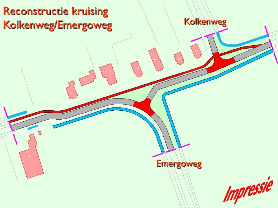 Emergoweg Kolkenweg Reconstructie kruising Kolkenweg/Emergoweg