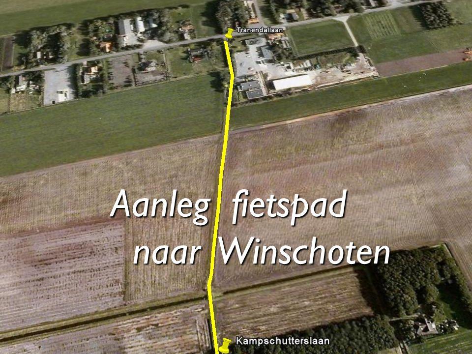 Aanleg fietspad naar Winschoten naar Winschoten