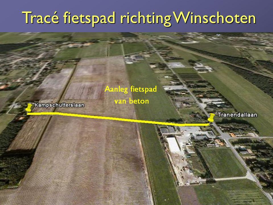 Tracé fietspad richting Winschoten