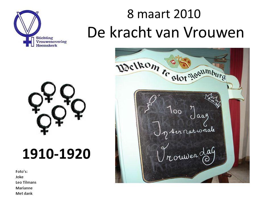 Slot Assumburg Door de jaren heen, heel veel voet- stappen op Internationale Vrouwendag