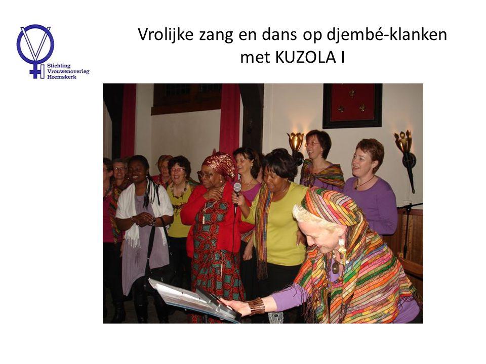 Vrolijke zang en dans op djembé-klanken met KUZOLA II