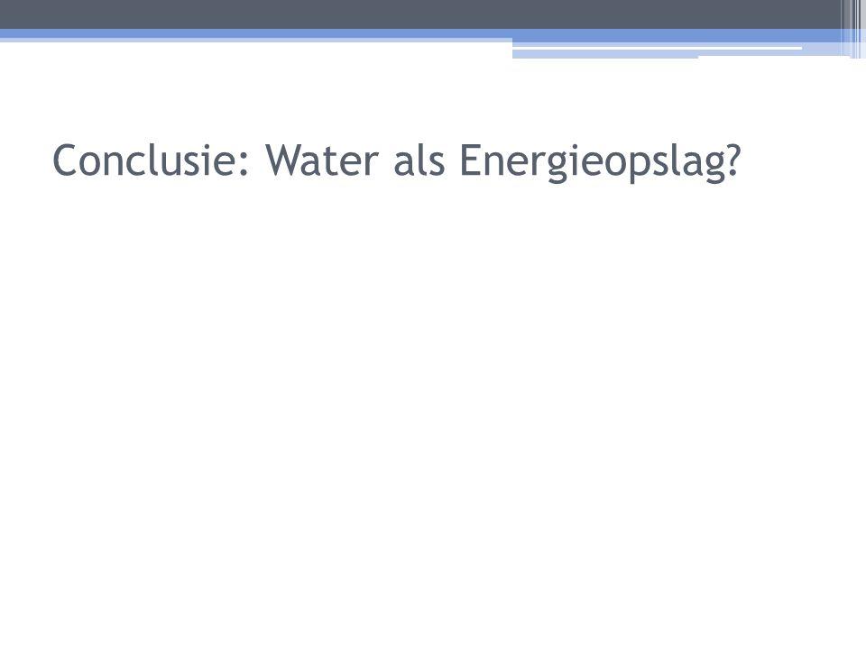 Conclusie: Water als Energieopslag?