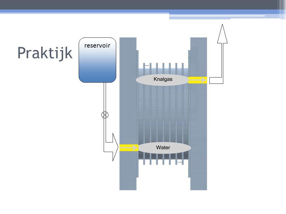 Praktijk reservoir Weergave 3 Doorsnede van de Dry Cell, schuine weergave