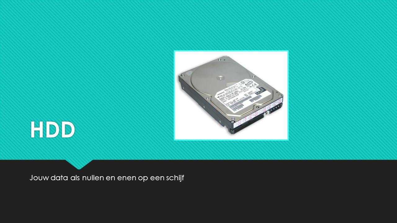 HDD Jouw data als nullen en enen op een schijf
