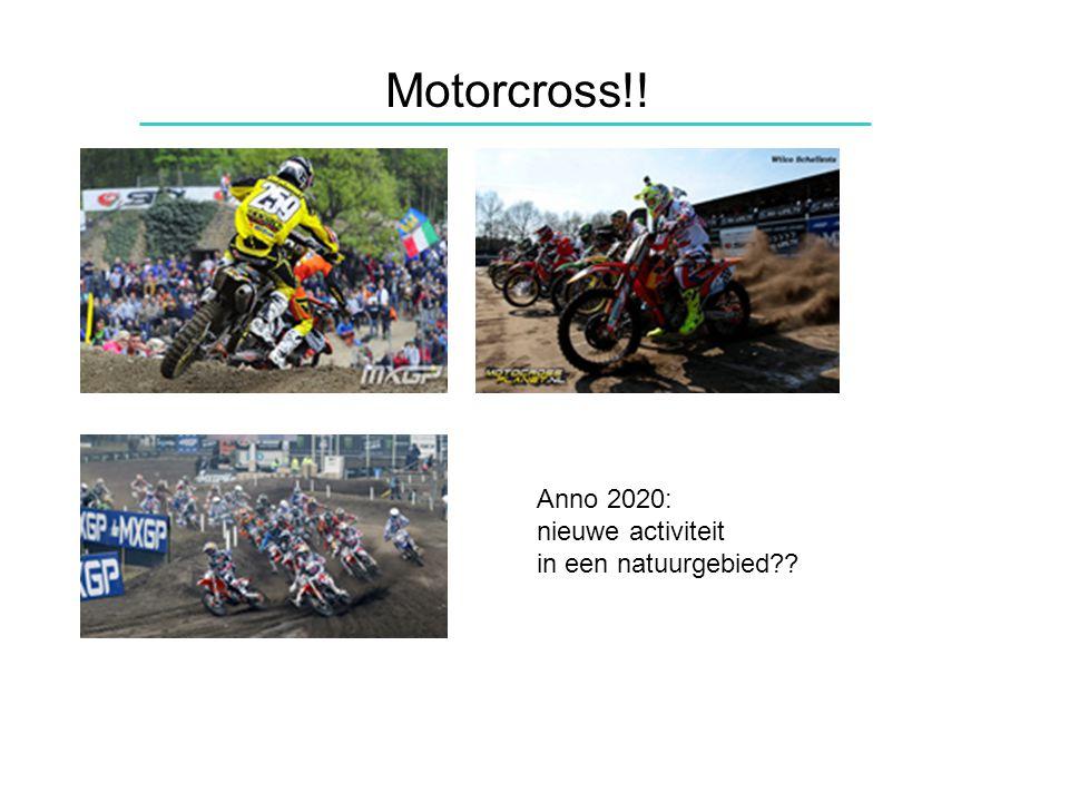 Motorcross!! Anno 2020: nieuwe activiteit in een natuurgebied
