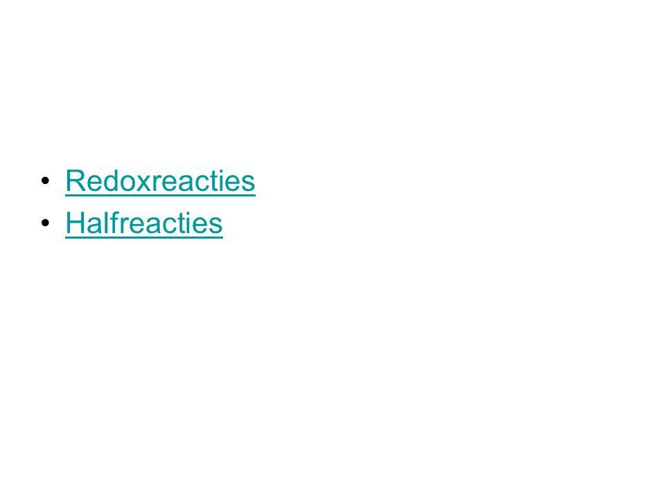 Redoxreacties Halfreacties