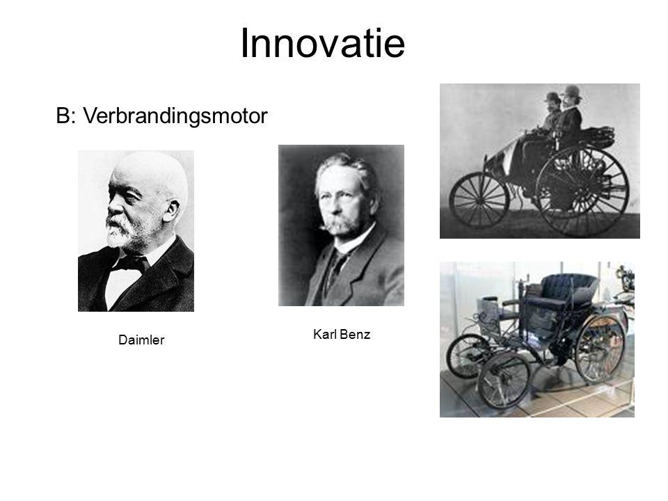 Innovatie B: Verbrandingsmotor Daimler Karl Benz