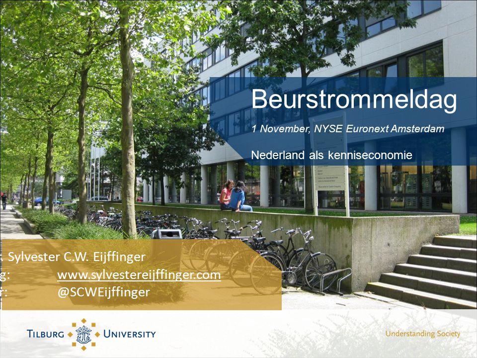 Beurstrommeldag 1 November, NYSE Euronext Amsterdam Nederland als kenniseconomie Prof dr.