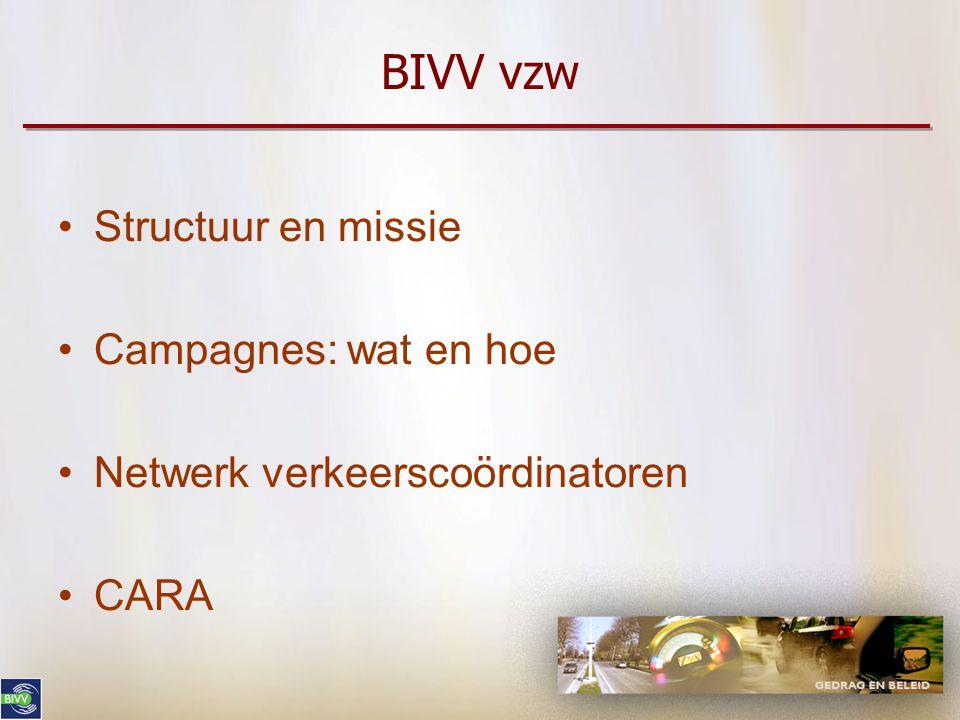 Belgisch Instituut voor de Verkeersveiligheid vzw Afdeling CARA Mark Tant, Afdelingshoofd CARA 05.