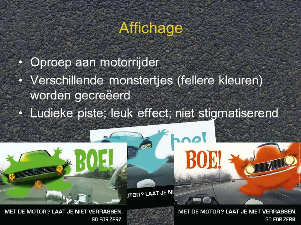 """19 3. Campagneontwerp """"Anticipeer…!"""" Oproep aan motorrijder op de automobilist laat je niet verrassen onvoorziene obstakels wegmarkeringen, riooldekse"""