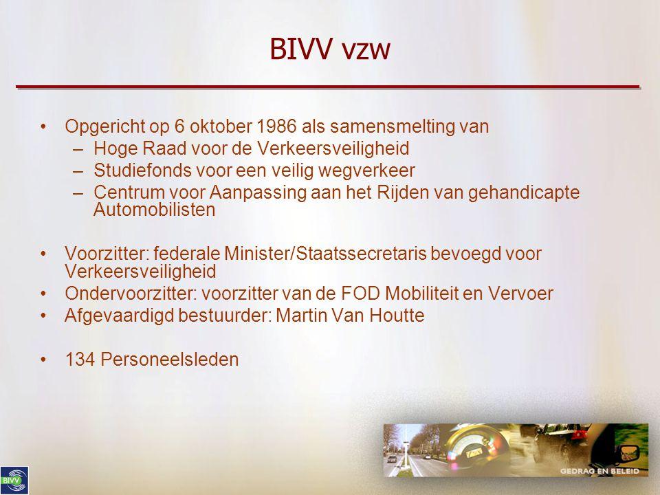 2 BIVV vzw Structuur en missie Campagnes: wat en hoe Netwerk verkeerscoördinatoren CARA