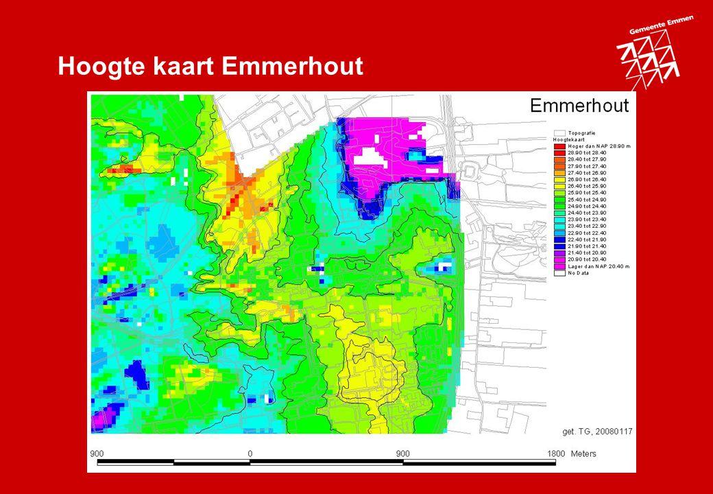 Hoogte kaart Emmerhout