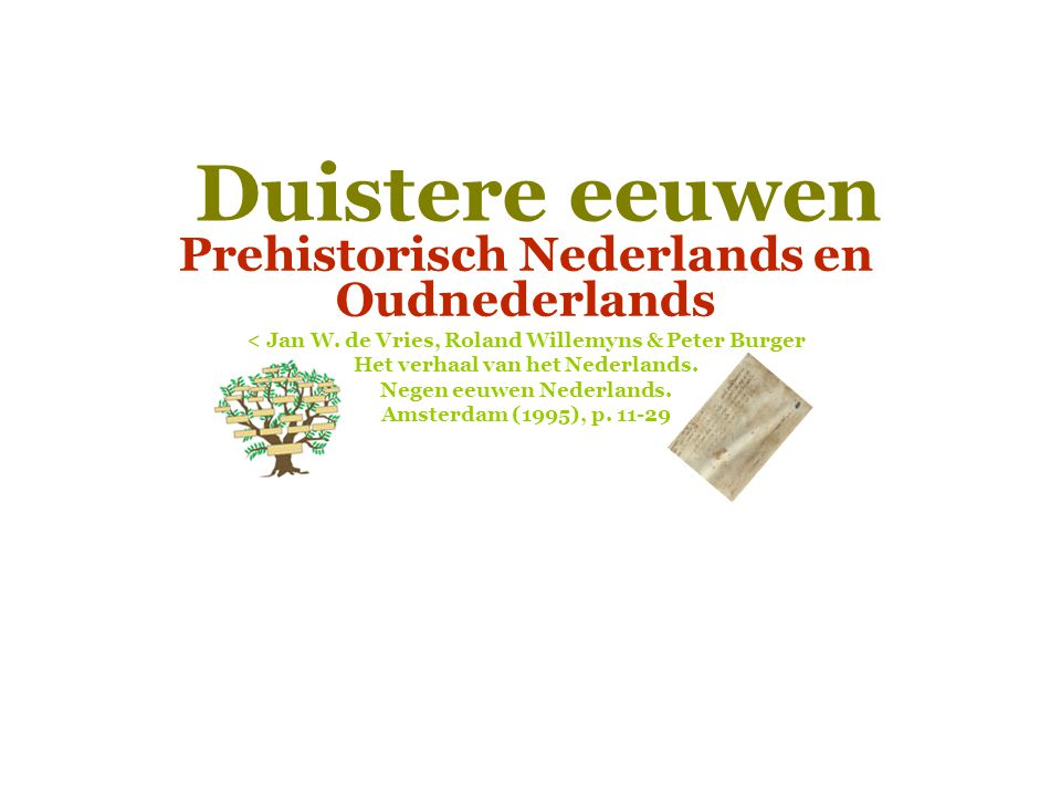 Geschiedenis van het Nederlands  Hoofdstuk: Duistere eeuwen 4.