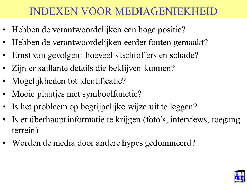 © 2006 JP van de Sande RuG INDEXEN VOOR MEDIAGENIEKHEID Hebben de verantwoordelijken een hoge positie.