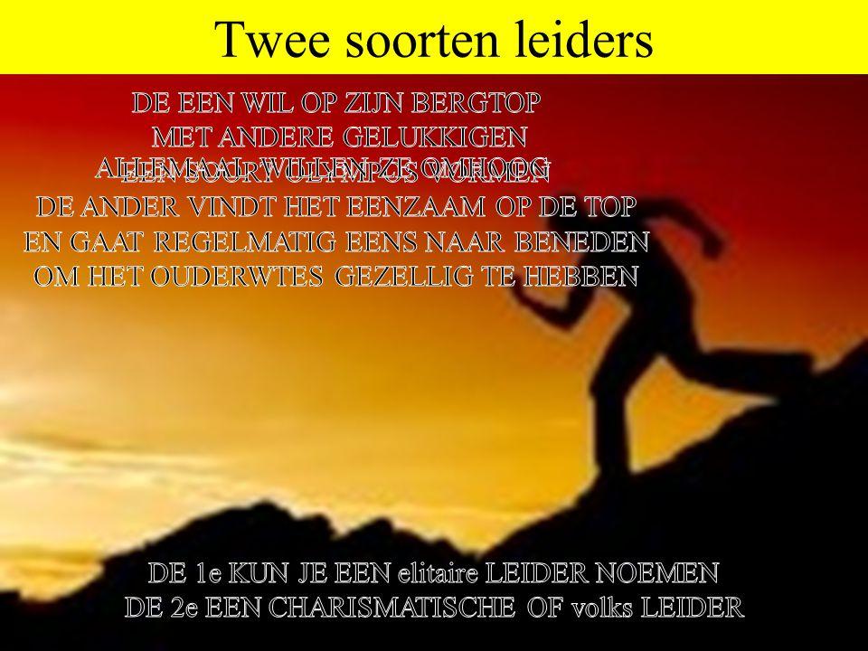 Twee soorten leiders